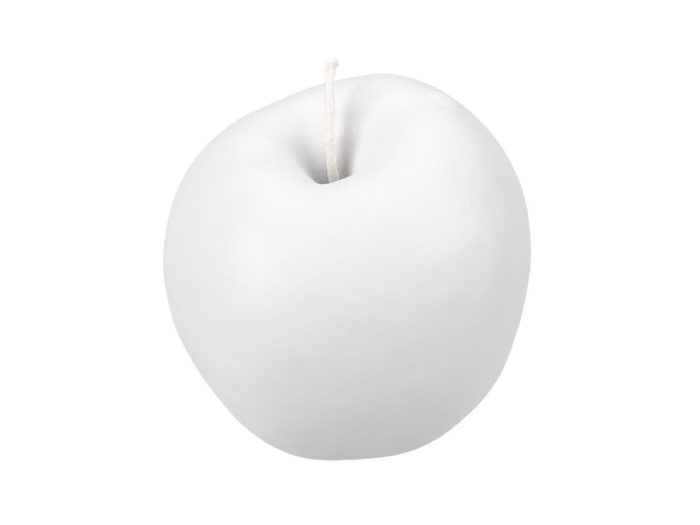 clay rendering of a red apple 3d model