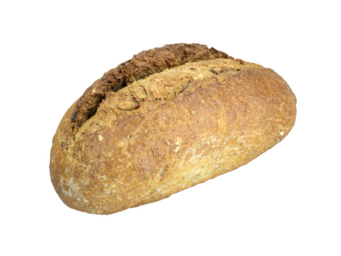 perspective view rendering of a french bread roll 3d model