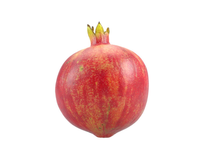 front view rendering of a pomegranate 3d model