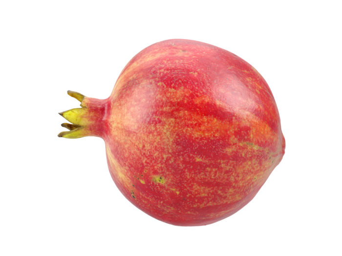side view rendering of a pomegranate 3d model
