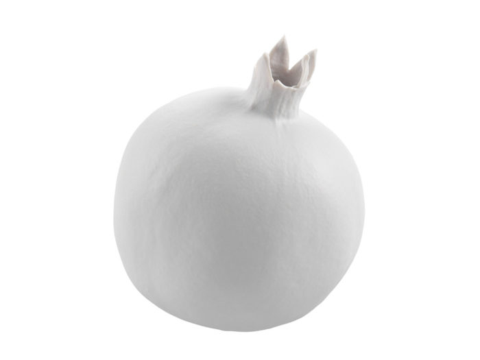 clay rendering of a pomegranate 3d model
