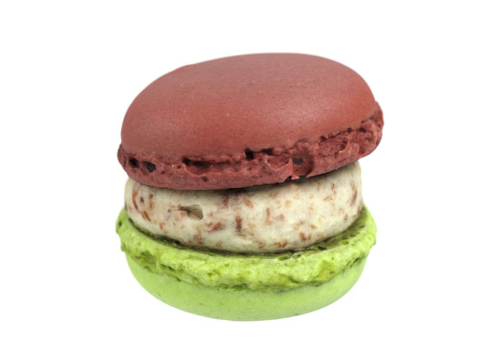 side view rendering of a macaron 3d model