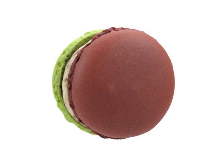 top view rendering of a macaron 3d model