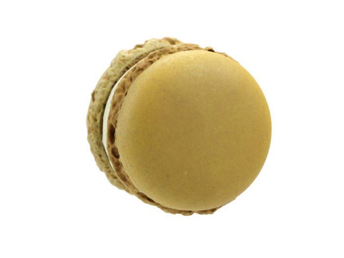 top view rendering of a lemon macaron 3d model