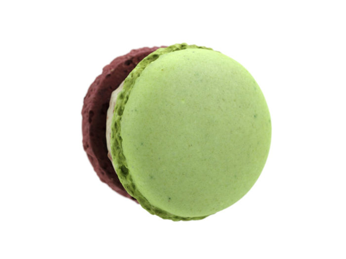 bottom view rendering of a macaron 3d model