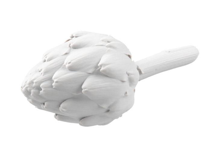 clay rendering of an artichoke 3d model