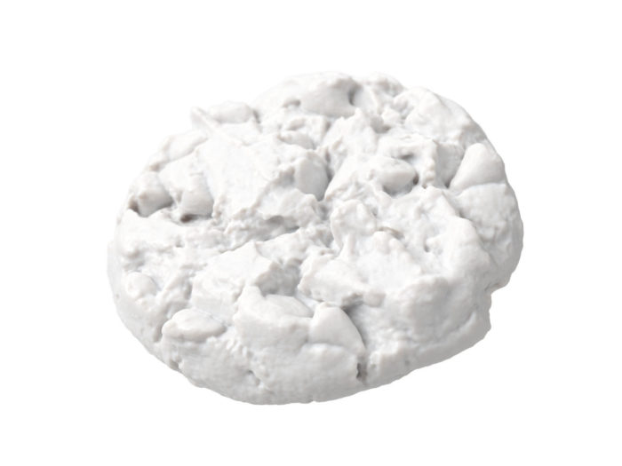 clay rendering of a chocolate chip 3d model