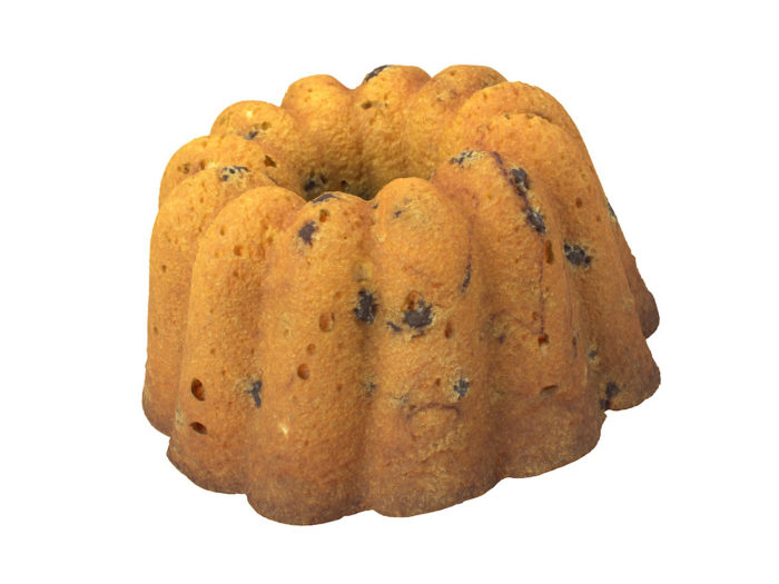 perspective view rendering of a cake 3d model