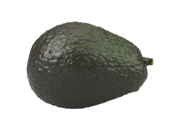 side view rendering of an avocado 3d model