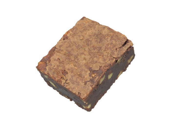 top view rendering of a brownie 3d model