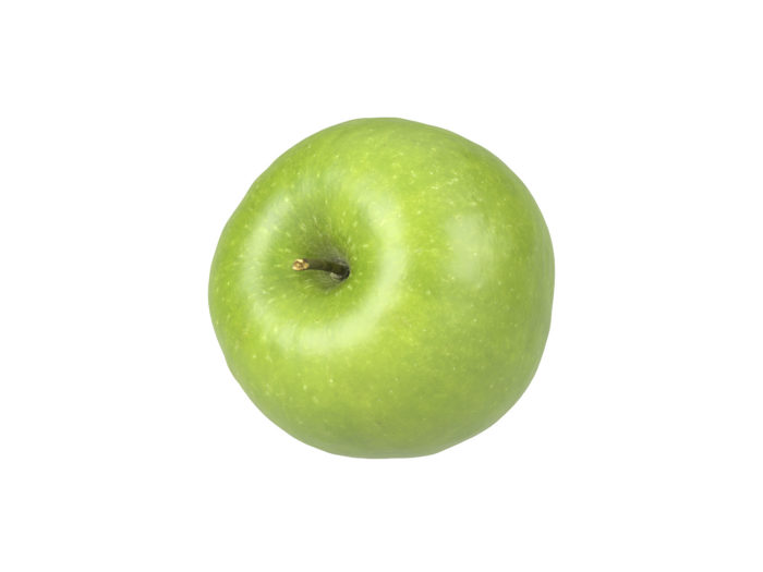 top view rendering of a green apple 3d model