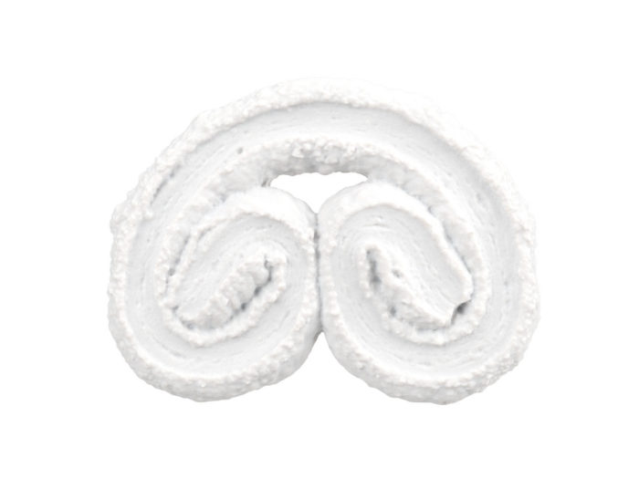 clay rendering of a palmier biscuit 3d model
