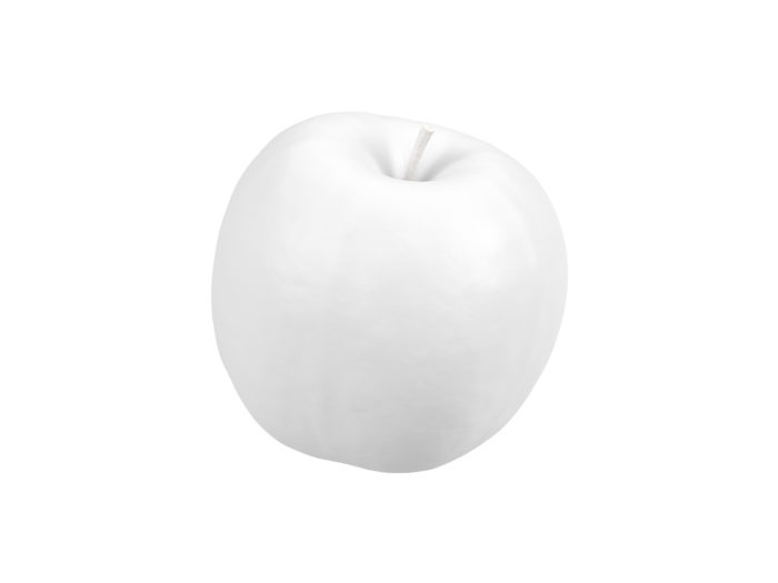 clay rendering of a green apple 3d model