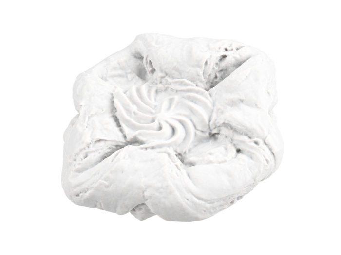 clay rendering of a raspberry vanilla danish pastry 3d model