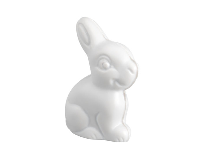clay rendering of a chocolate easter bunny 3d model