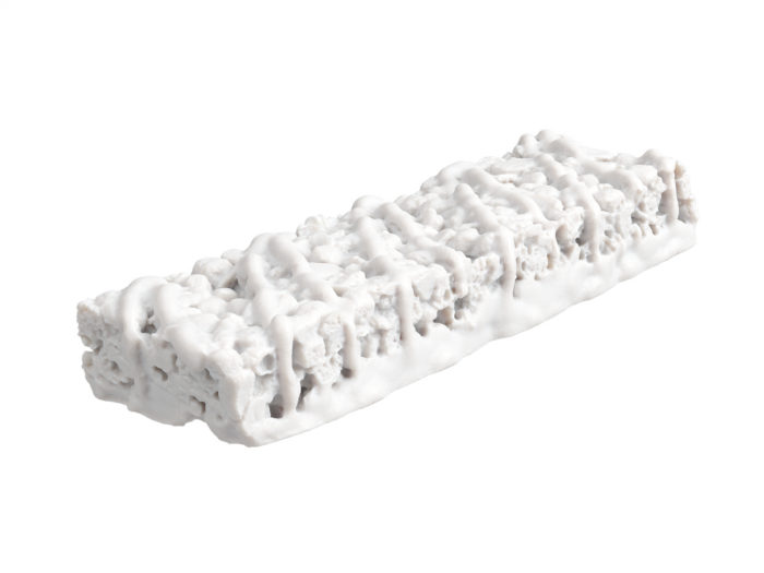 clay rendering of a chocolate granola bar 3d model