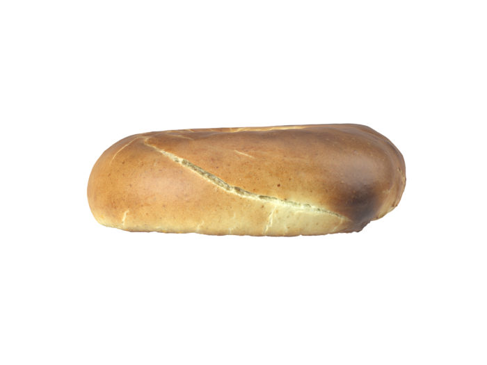 side view rendering of a bagel 3d model