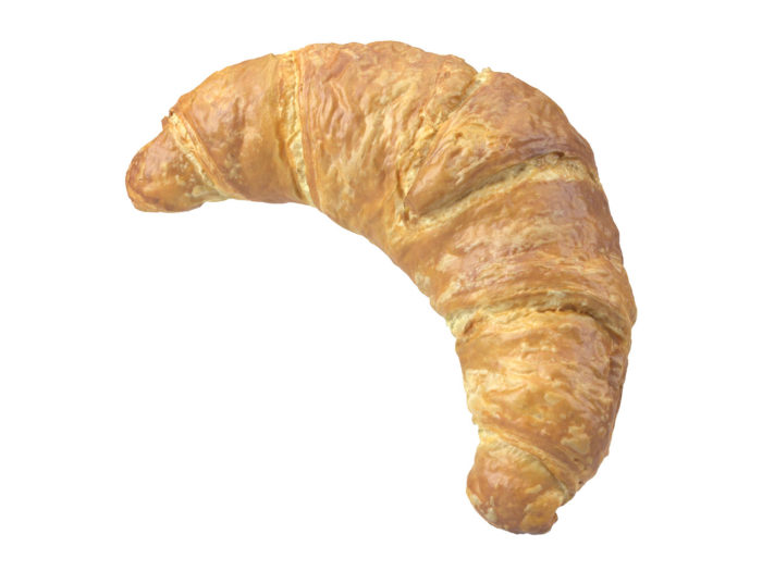 perspective view rendering of a croissant 3d model