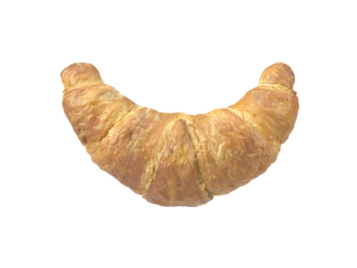 top view rendering of a croissant 3d model
