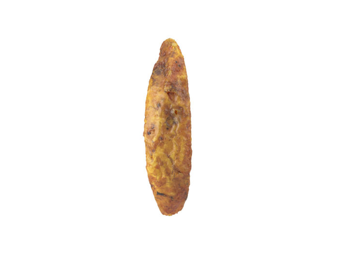 back view rendering of a fried potato wedge 3d model