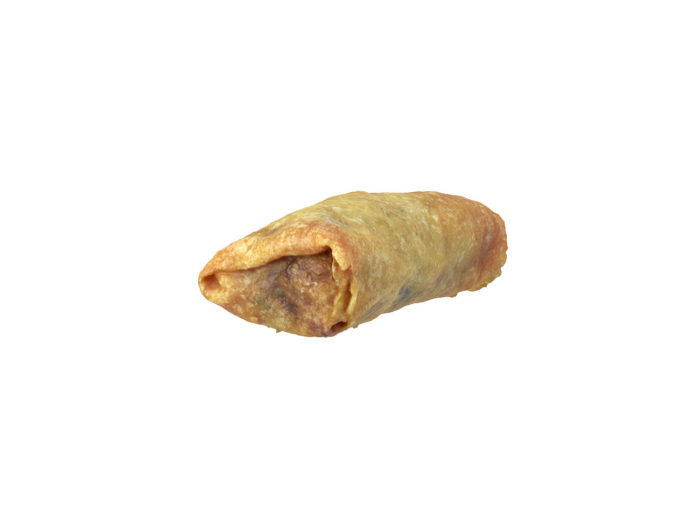 top view rendering of a mini springroll 3d model