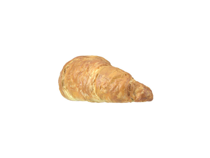 side view rendering of a croissant 3d model