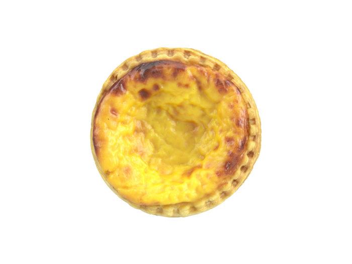 top view rendering of an egg tart 3d model