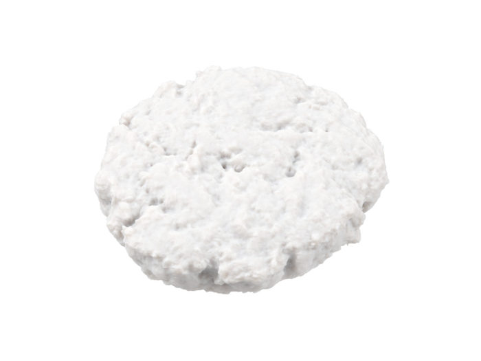 clay rendering of a beef burger patty 3d model