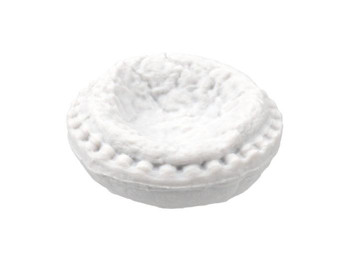 clay rendering of an egg tart 3d model