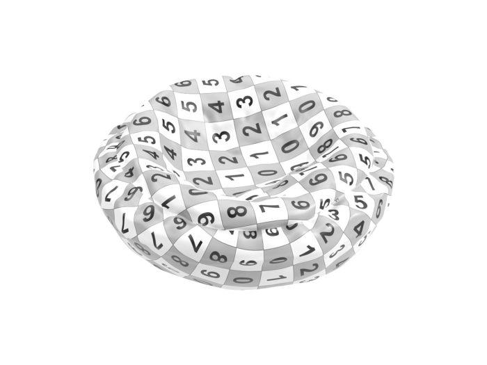 uv rendering of an egg tart 3d model