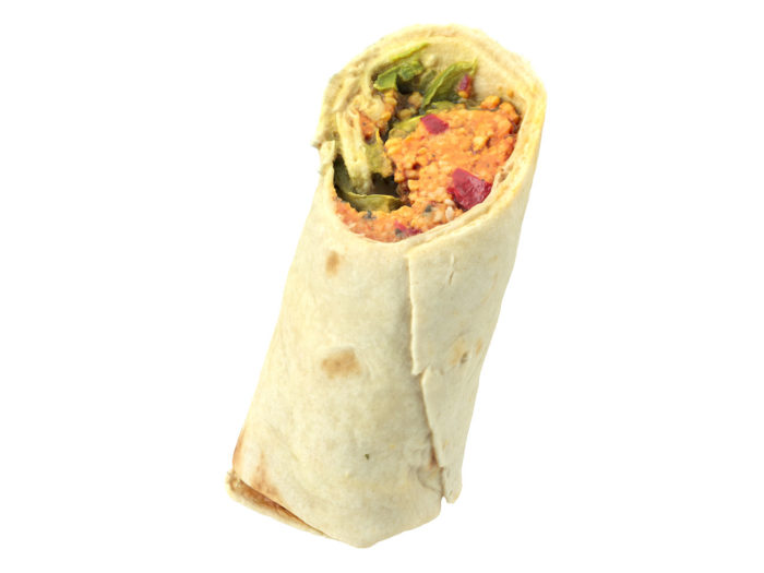 perspective view rendering of a couscous wrap 3d model