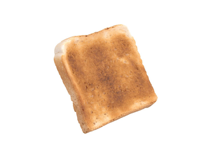 perspective view rendering of a toast 3d model