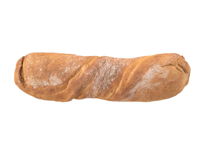top view rendering of a bread 3d model