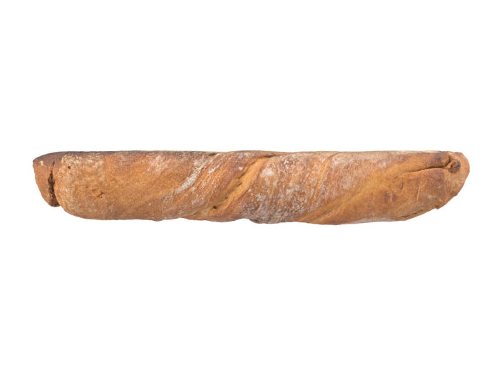 side view rendering of a bread 3d model