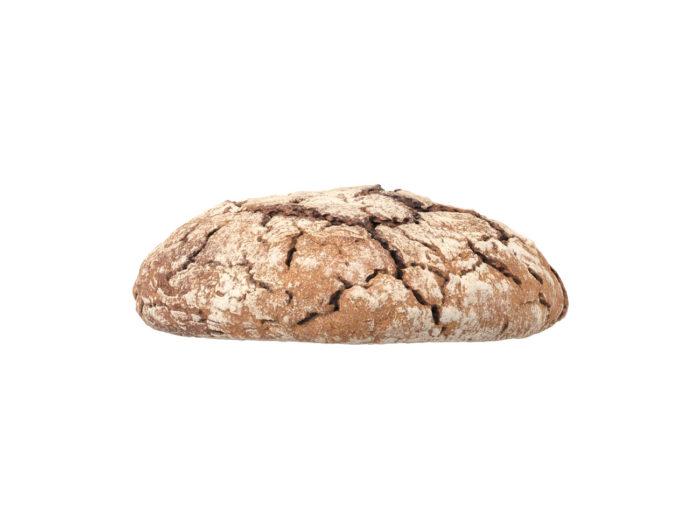 side view rendering of an einkorn bread 3d model