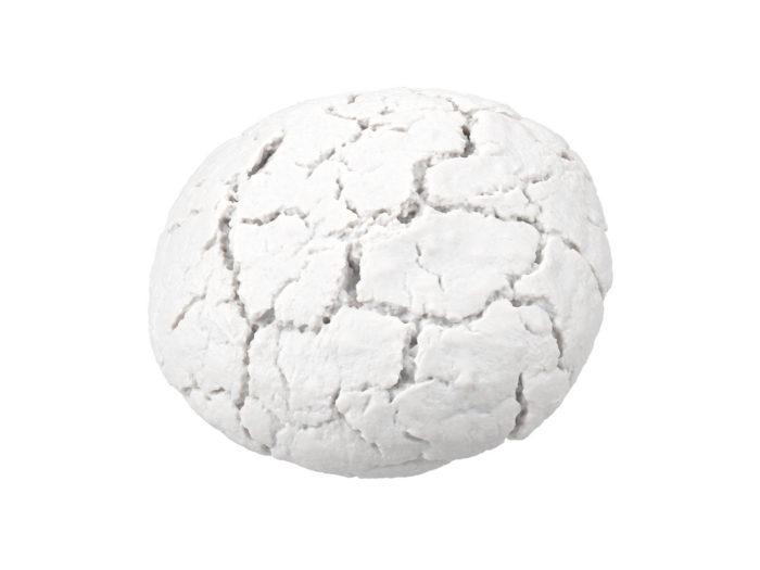 clay rendering of an einkorn bread 3d model