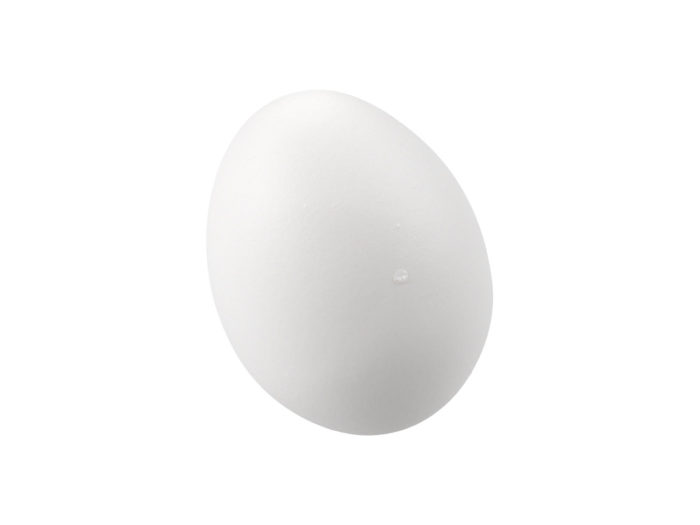 clay rendering of an egg 3d model