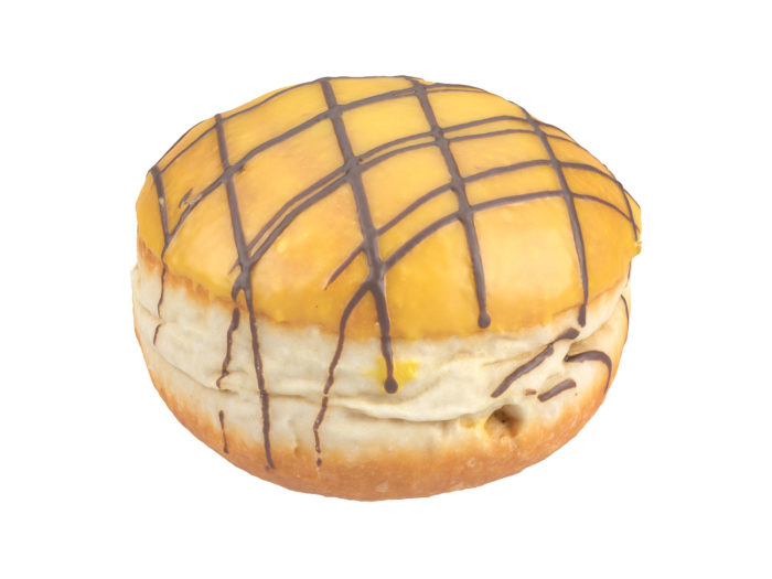 perspective view rendering of a filled doughnut 3d model