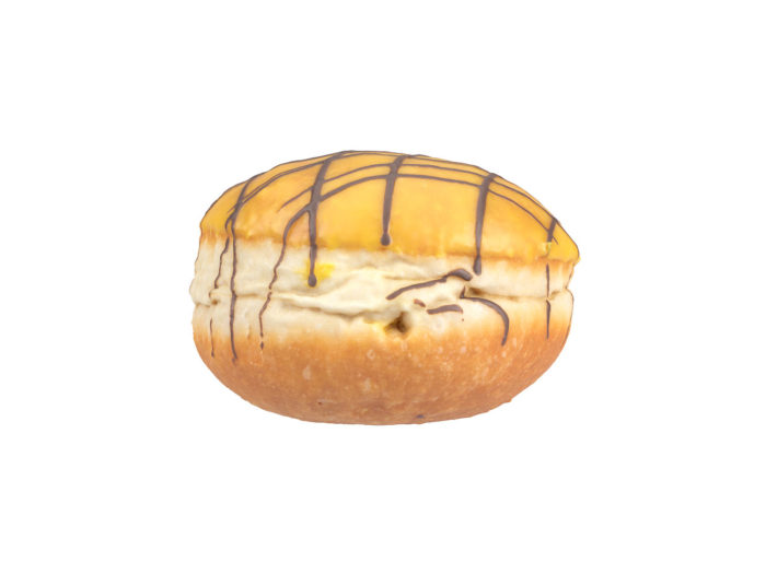 side view rendering of a filled doughnut 3d model