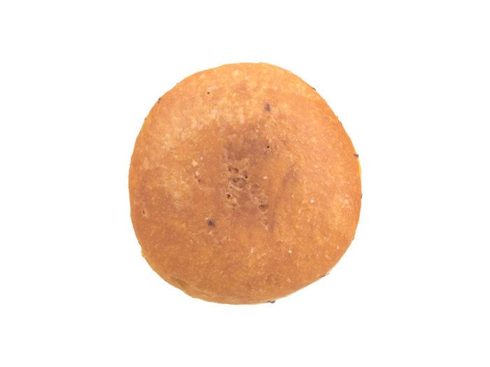 bottom view rendering of a filled doughnut 3d model