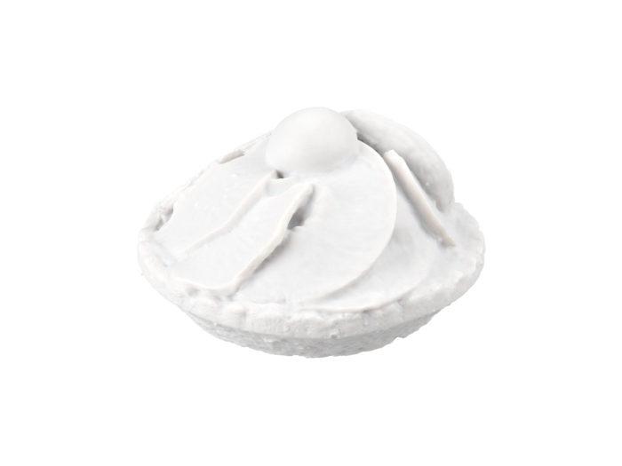 clay rendering of a mini fruit tart 3d model