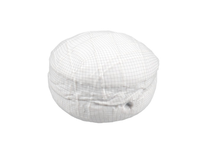 wireframe rendering of a filled doughnut 3d model