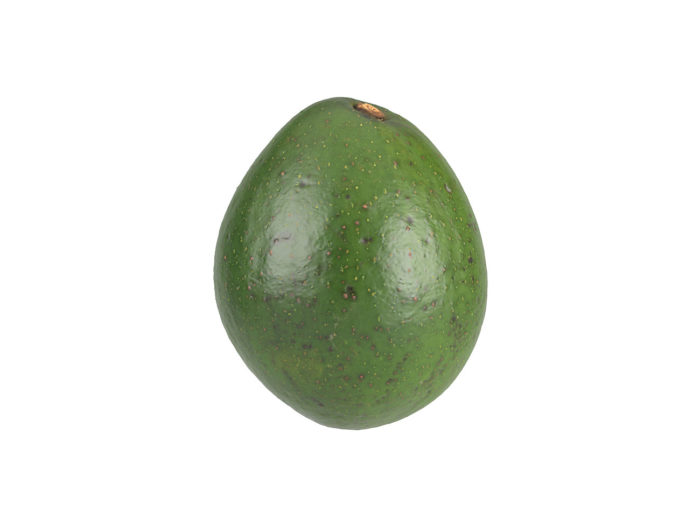 side view rendering of an avocado 3d model