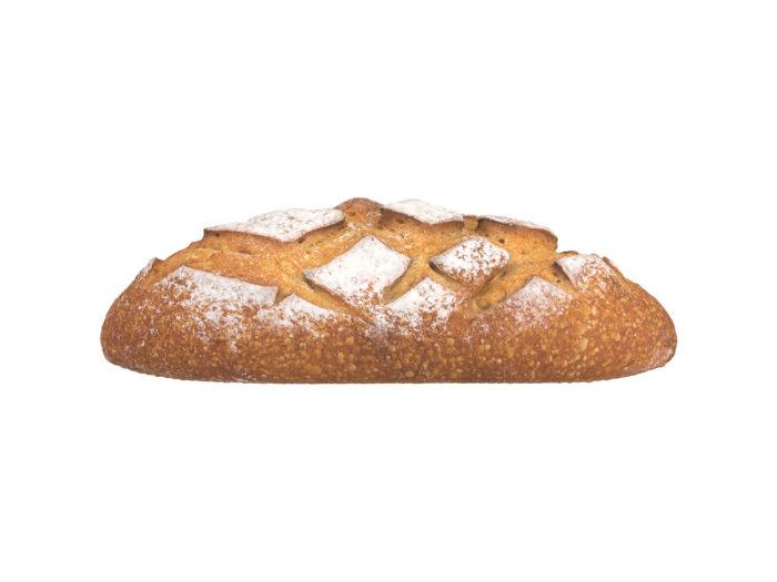 side view rendering of a bread 3d model