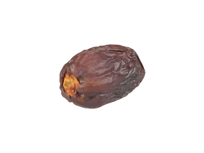 top view rendering of a medjool date 3d model