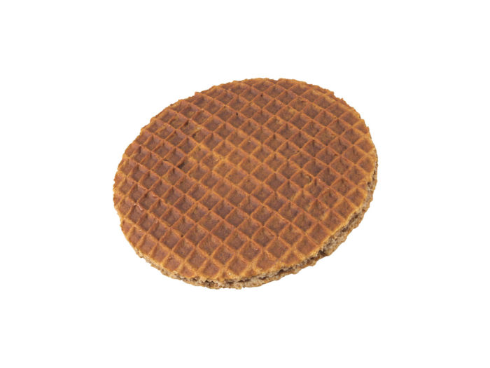 perspective view rendering of a honey waffle 3d model