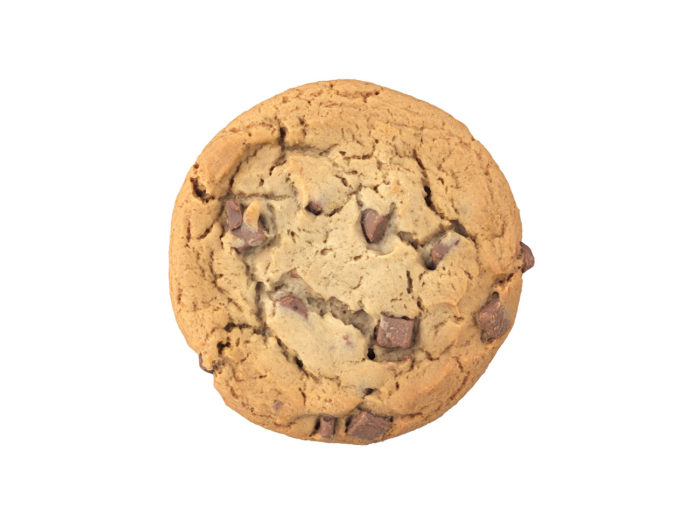 top view rendering of a cookie 3d model