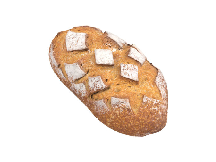 perspective view rendering of a bread 3d model