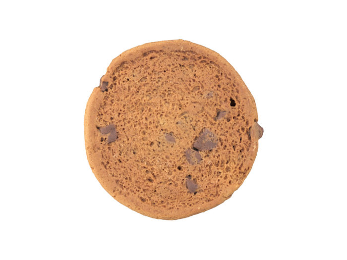 bottom view rendering of a cookie 3d model