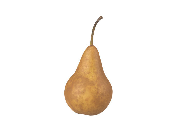 side view rendering of a pear 3d model